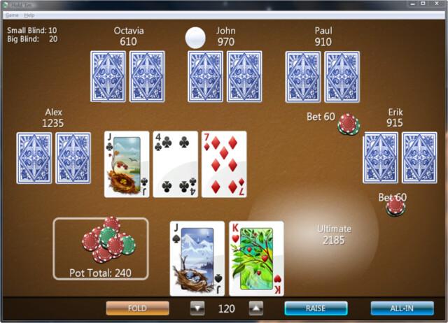 Ultimate Extra Hold 'Em Poker Game - ein weiteres Spiel für Vista Ultimate