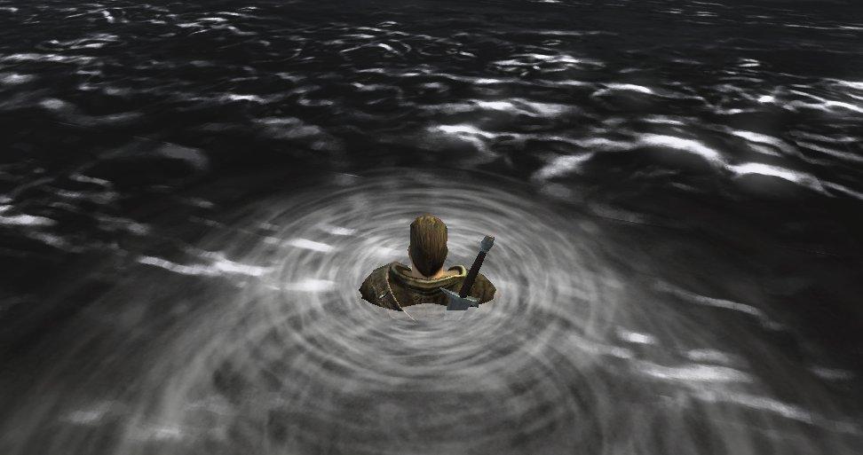 """""""Gothic 3"""" (2006): Eher unspektakuläre Darstellung des Wassers ohne jegliche Reflexionen."""