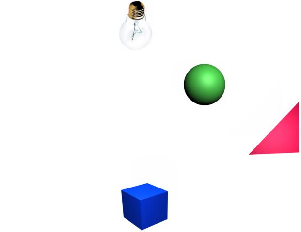 Ein einfaches Raytracing-Szenario 1