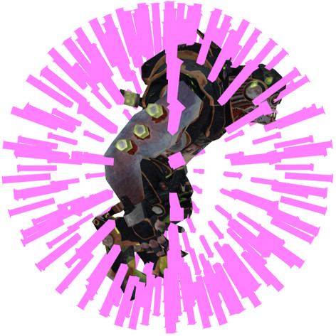 Bounding-Sphere, angenähert durch Strahlen