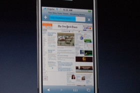 Apple iPhone Safari Browser | Quelle: engadget.com
