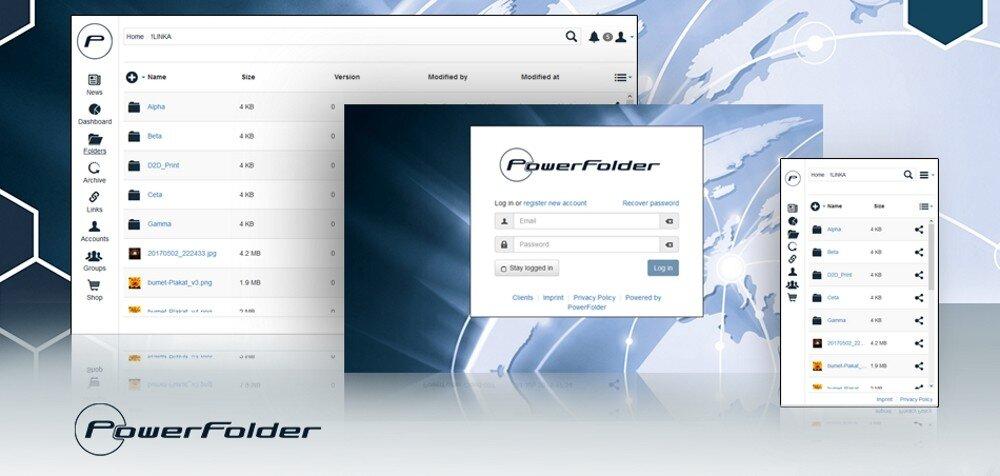 PowerFolder – Oberfläche