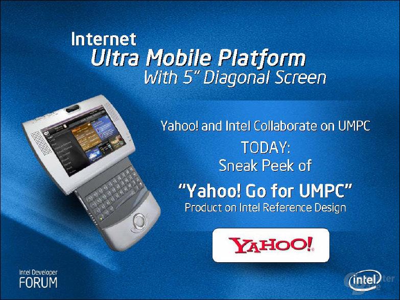 IDF Fall 2006: Intel und Yahoo entwickeln Gemeinsam an Referenzdesign