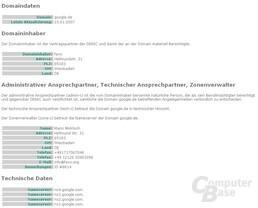Google Domain gekapert