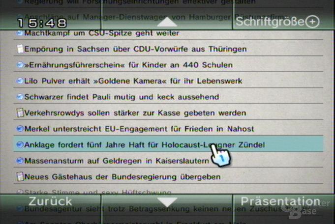 Nachrichtenkanal - Nachrichtenliste