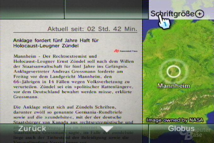 Nachrichtenkanal - Normaler Schriftgrad