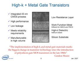 Intel P1266 (45 nm) setzt auf High-k und Metal Gate