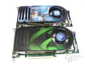 GeForce 8800 GTS (oben) vs 8800 GTS 320MB (unten)