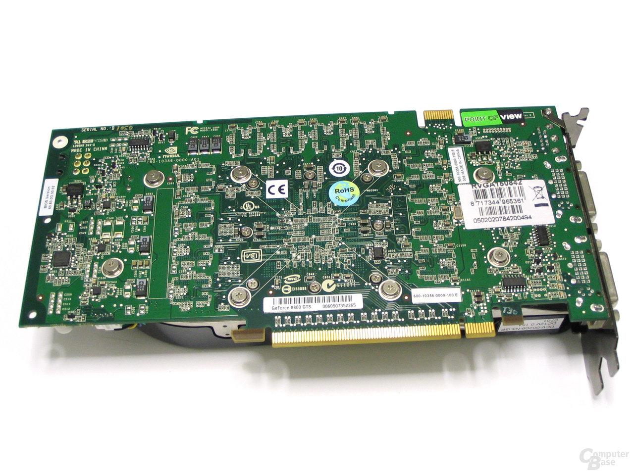 POV GeForce 8800 GTS Rückseite