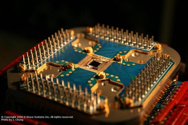Quantenprozessor in seiner Verankerung