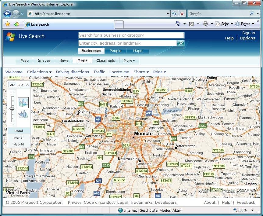 München in Virtual Earth