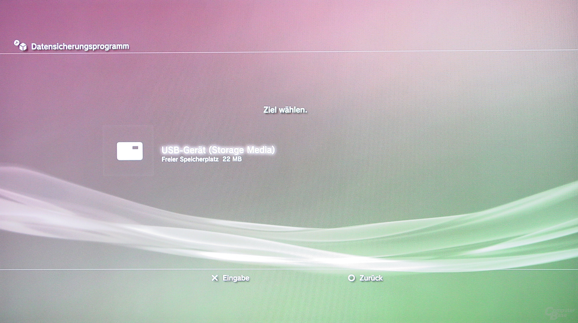 PlayStation 3: Datensicherung