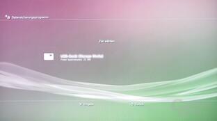 PlayStation 3: Datensicherung