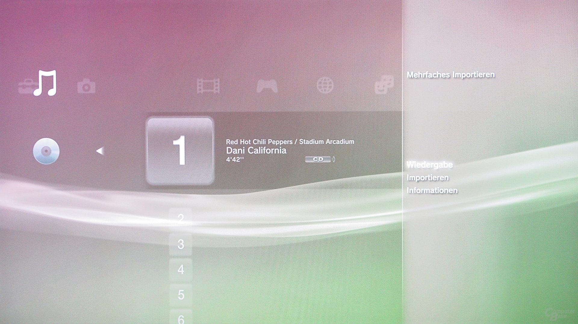 PlayStation 3: Musik