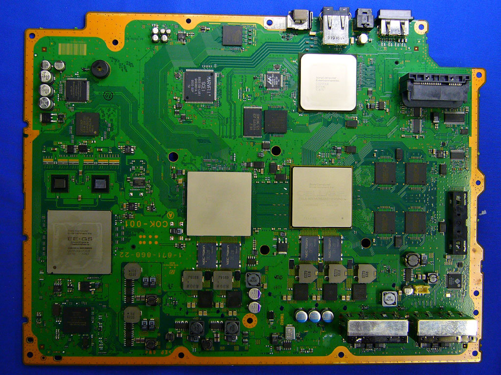 PlayStation 3: Blick ins Innere: Mainboard der US- und Japan-Modelle| Quelle: http://pc.watch.impress.co.jp
