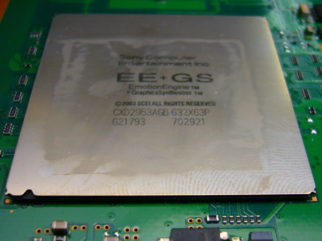 PlayStation 3: Blick ins Innere: EE+GS-Chip | Quelle: http://pc.watch.impress.co.jp