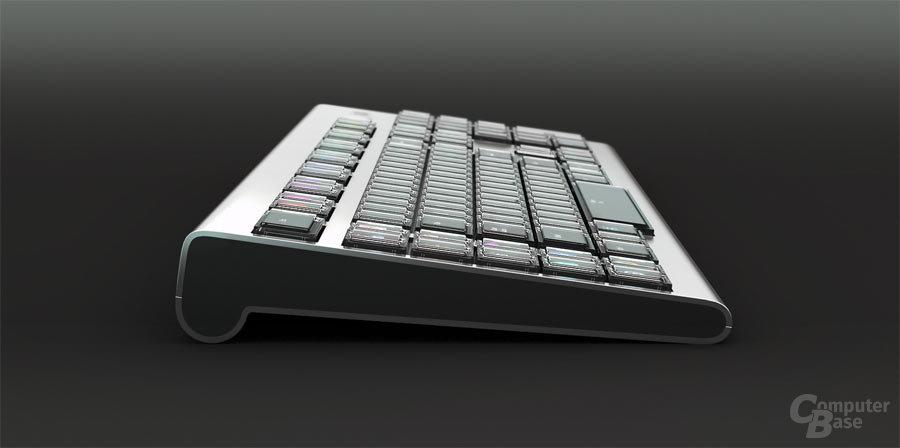 Optimus Maximus mit 114 OLED-Display-Tasten von Art Lebedev