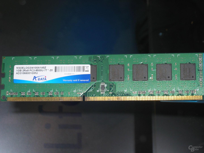 A-Data-Modul für DDR3-1.066 bei CL7