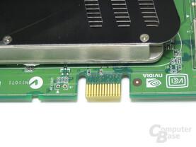 POV GeForce 8600 GTS SLI-Stecker