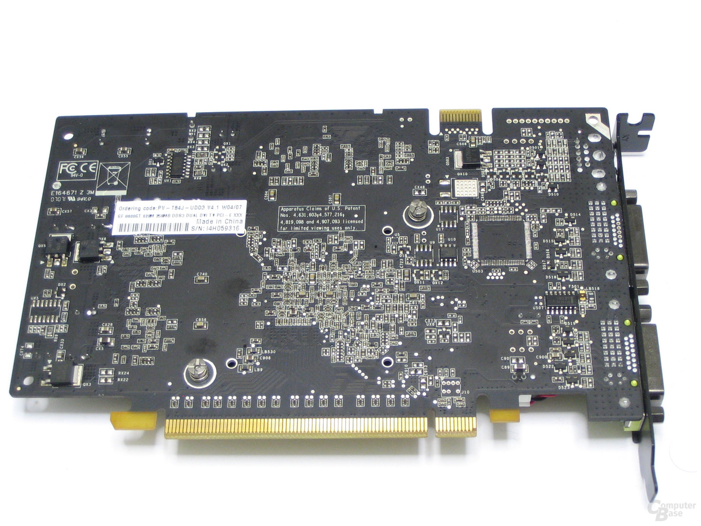 XFX GeForce 8600 GT XXX Rueckseite