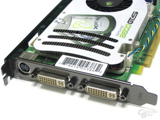 XFX GeForce 8600 GTS XXX Slotblech