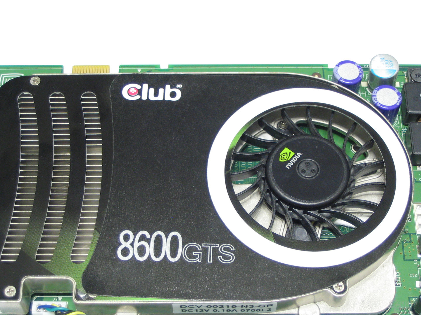 Club3D GeForce 8600 GTS Kuehler