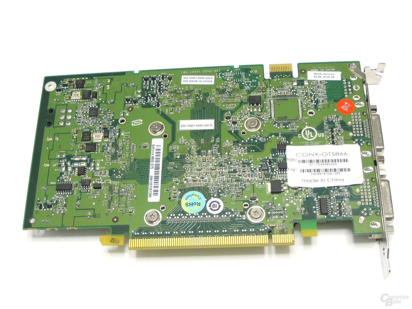 Club3D GeForce 8600 GTS Rueckseite