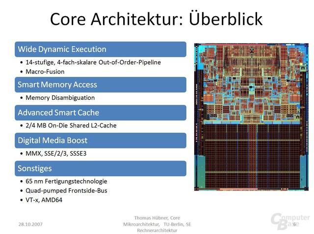 Intel Core Mikroarchitektur im Überblick