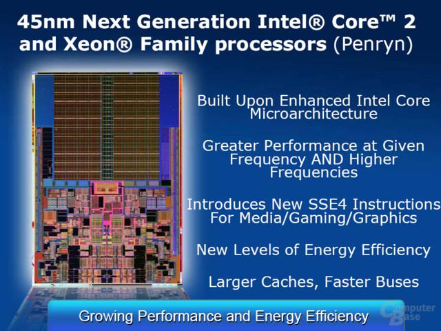 Intel Penryn-Prozessorgeneration im Überblick