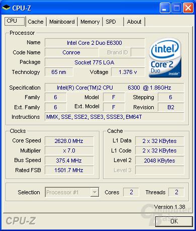 CPU-Z CPU max