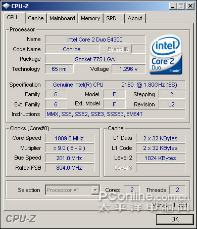 Pentium E2160
