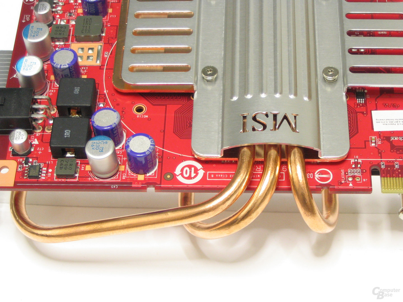 MSI GeForce 8600 GTS Heatpipes