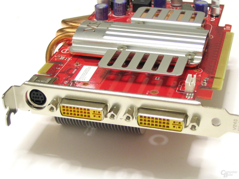MSI GeForce 8600 GTS Slotblech