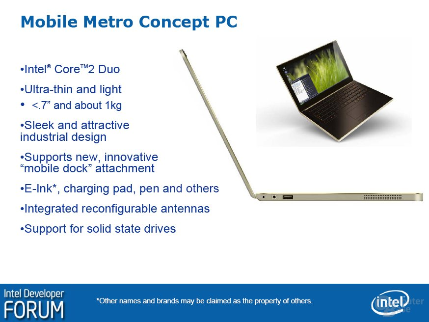 Intel Mobile Metro Concept PC