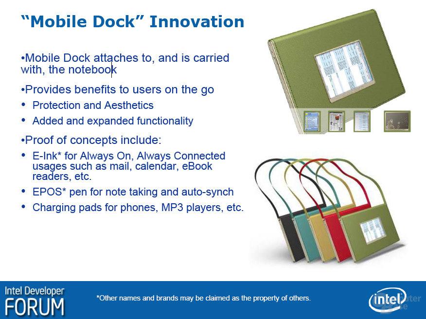 Mobile Dock – Sideshow-Display und Schutzhülle fürs Notebook