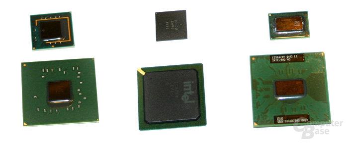 UMPC-Plattform von Intel: Oben 2007 (McCaslin) unten 2006