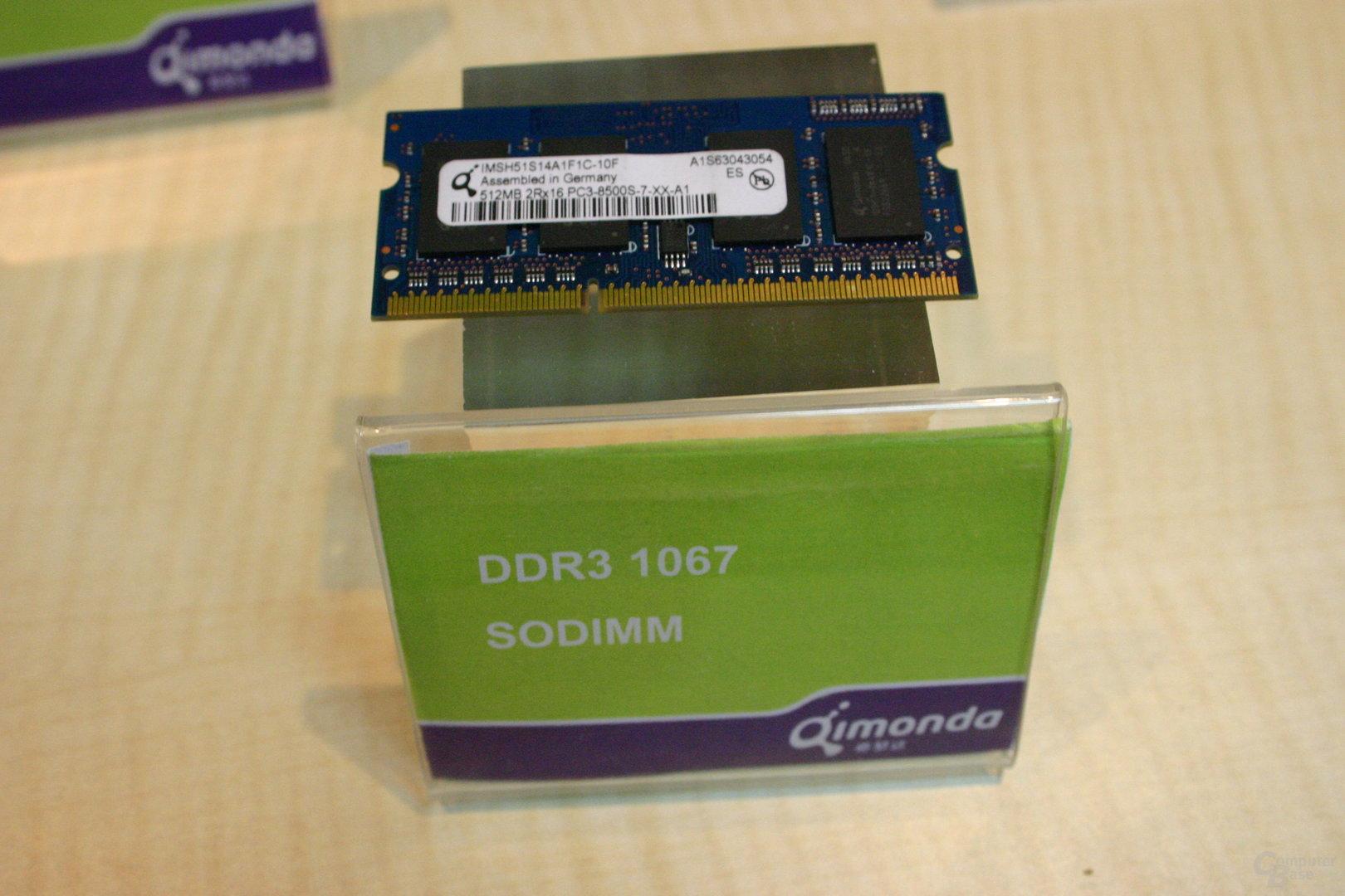 DDR3-1066 SoDIMM von Qimonda