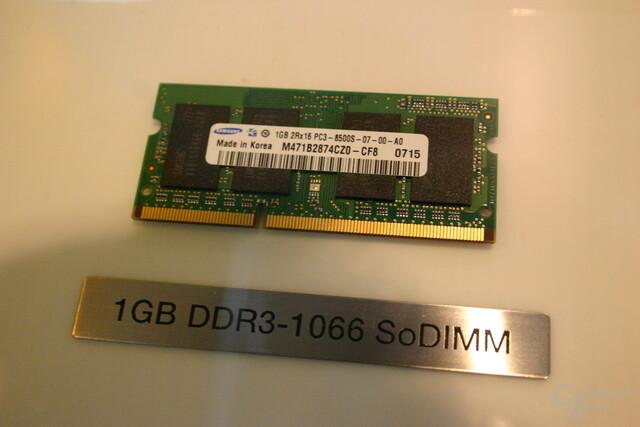 DDR3-1066 SoDIMM von Samsung