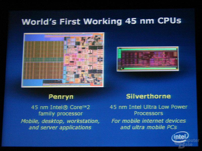 Silverthorne-Prozessor in 45 nm