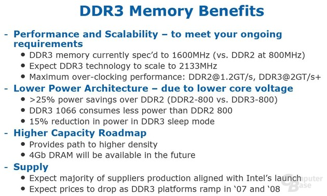 Vorteile von DDR3