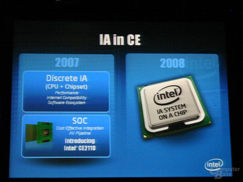 2008 kommt System-on-a-Chip-Lösung mit x86-Programmiermodell