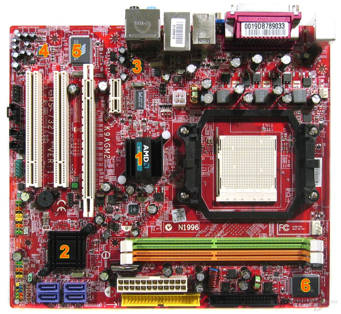 MSI K9AGM2 - Komponenten