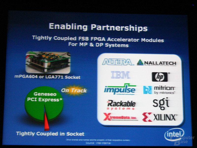 Intel öffnet sich für verschiedene Beschleuniger: Sockel, PCI Express oder PC Express-Erweiterung Geneseo