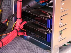 Ein TerraByte Festplattenspeicher im Raid 0 Verbund: Leise Aufhängung Dank Zalmans HDD Heatpipe ZM-2HC2