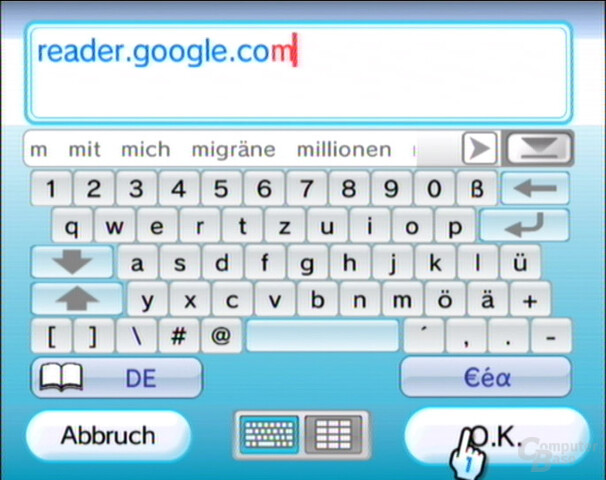 URL des Google Readers