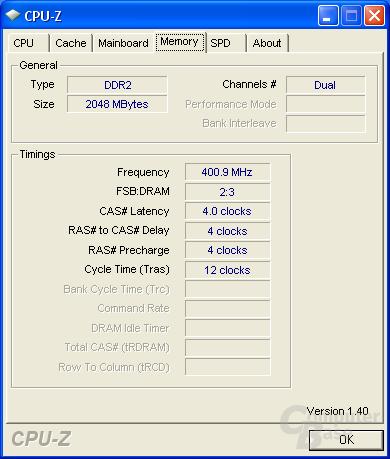 Asus P5K Deluxe CPU-Z RAM