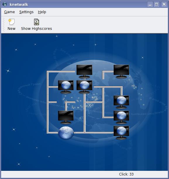 KDE4 – Knetwalk