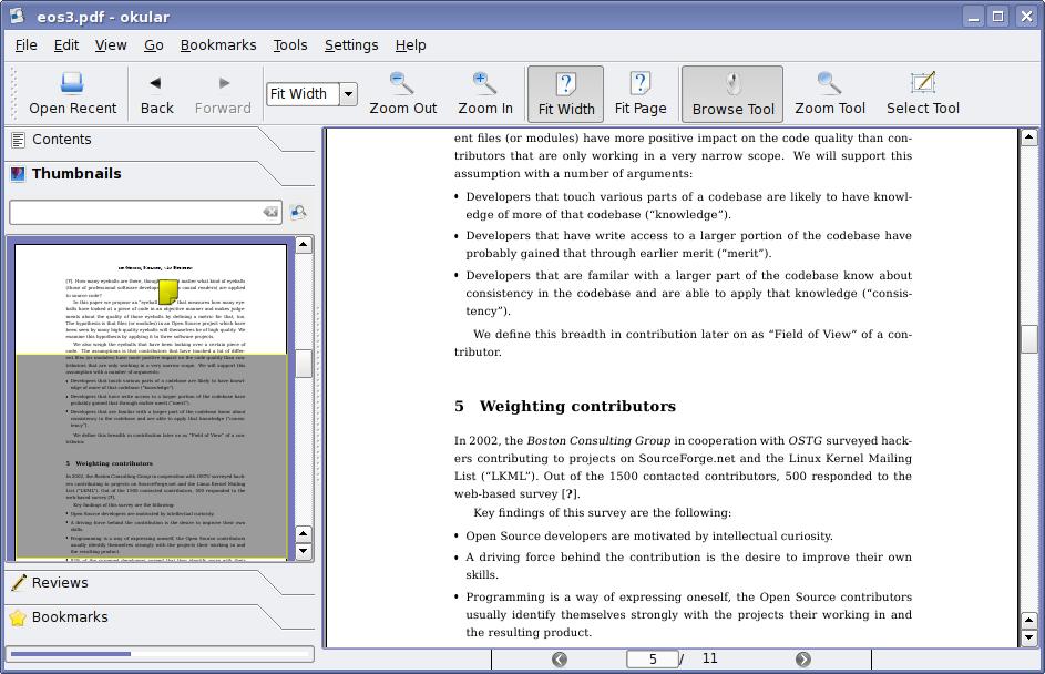 KDE4 – Dateibetrachter Okular