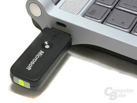 Bluetoothstick angeschlossen
