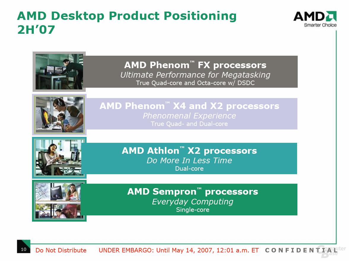 AMD: Agena FX, Agena und Kuma kommen als Phenom FX, X2 und X4